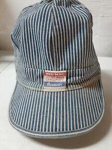 Vintage Big Mac Union Made Sanforized Penneys Hickory Stripe  Hat