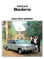 1979  79 Volvo 240 & 260 Sedans original sales brochure