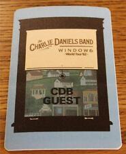 Vintage Genuine Charlie Daniels Band Windows World Tour 1982 OTTO Backstage Pass