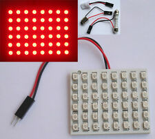 Red T10 BA15S 1156 LED 48SMD Panel Interior Dome Map RV Trailer Light 12V