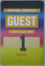 MICHAEL JACKSON BAD Tour BACKSTAGE PASS Unused #6 OTTO