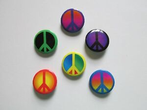 48 PEACE SIGN PINS mini buttons 60's groovy 1960's peace signs NICE