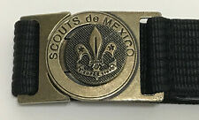 SCOUTS OF MEXICO / MEXICANA - SCOUT LEADER / COMMISSIONER OFFICIAL BUCKLE & BELT