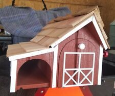 Amish Crafted Red Barn Style Mailbox with Newspaper Holder - Lancaster County PA