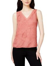 Bar III Textured V-Neck Top Bronzed Rose L	1286 (Mew's Market) NEW $69.50