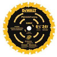 "DeWALT 6.5""d Precision Framing And General Purpose Saw Blade, 24 Tooth"