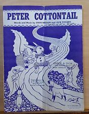 Peter Cottontail - 1950 sheet music - Easter Bunny hopping down bunny trail