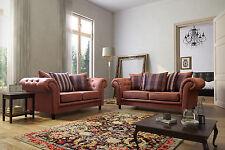 Sale New Sofas Woodland Range 3+2+1 Sofa Suite Set Suede Fabric Tan 3Piece Suite