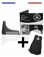 ►► PEIGNE A BARBE PARFAITE Professionnel Barbier Homme Contour + TABLIER BAVOIR