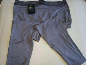 New Men's Nike Breathe Pro compression Shorts Sz XXL or XL Gray MSRP $40