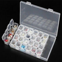KQ_ 28Slots Embroidery Diamond Painting Accessories Storage Box Case Nail Art Co