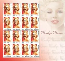 Marilyn Monroe Liberia Stamp Sheet of 16 stamps