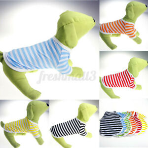 Various Puppy Small Cat Dog Pet Vest T Shirt Stripe Apparel Clothes Summe