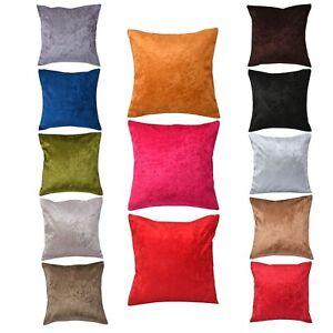 Plain Crushed Velvet Square Sparkle Cushion Covers