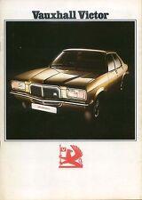 Vauxhall Victor FE Saloon 1800 & 2300 1973-74 Original UK Sales Brochure V2170