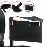 Waterproof Wheelchair Side Bag Mobility Holder Armrest Bag Hanging Handle TKK