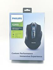 New Philips G200 Wired 7 Way LED Gaming Mouse With Ambiglow