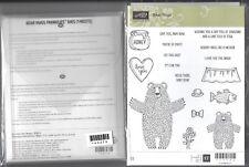 Stampin Up Sizzix Bear Hugs Stamp Set & Framelits Dies NEW Fish Honey Love Baby