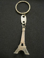 "French Eiffel Tower Keychain in Bronze Paris France 3D Charm ~Tower is 2"" tall"