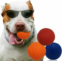HIGH BOUNCING Indestructible Tough Solid Core Rubber Dog Ball Interactive Toys