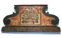 Large Hand Painted Folk Art Headboard Floral Rosemaling