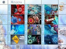 Moldova 2020, Medicine, Global Virus, Pandemic, sheet of 12v