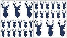 New listing Navy Blue Woodland Deer Wall Decal Stickers Art Nursery Room Decor by Sweet Jojo