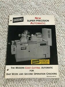 Vtg Hardinge Catalog Super-Precision Automatic Lathe Machine