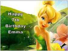"Tinkerbell Disney Cake Topper Personalised Edible Wafer Paper 7.5"" By 10"" A4"