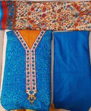 Indian Pakistani Designer Printed Lawn 3 Piece Unstitched Suit &Chiffon Dupatta