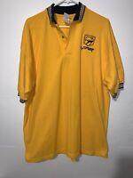 Rare Vinatge Dodge Viper Mens XL Gildan Yellow Checker Flag Short Sleeve Polo