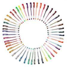 Hobbycraft Assorted Gel Pens 50 Pack Metallic Neon Pastel Colour Writing Drawing