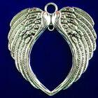 2Pcs Weight 32g Carved Tibetan Silver Wing Heart Pendant Bead 70x65x4mm S-98PJ