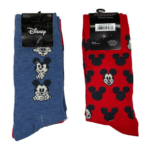 MICKEY MOUSE Socks - 2 PAIRS 🧦🧦 Size 6-12 - Brand New! Fast Shipping! Disney