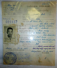 French Foreign Legion - 1955 - Military Id Card - Saigon - Vietnam Indochina War