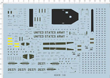 1/35 uh-60 Black Hawk Helicopter Model Kit Water Decal