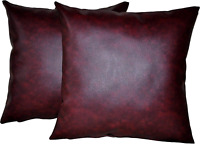 """4 White Faux Leather Classic Cushion Covers 16/"""" 18/"""" 20/"""" Scatter Pillows"""