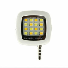 16 LED Camera Smart Selfie Fill Flash Light 3.5mm For Android IOS iPhone 5s 6 6+