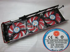 New For ATI HD7990 Video Card Triple Fan Replacement NTK FD7010H12S DC12V 0.35A