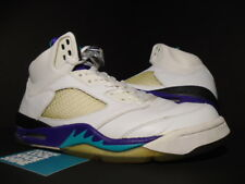 2006 Nike Air Jordan V 5 Retro LS WHITE EMERALD GRAPE ICE PURPLE 314259-131 OG 9