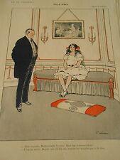 Fille d'ève Coquette Mlle Yvonne Fabiano Print Art Déco 1910