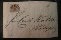 1857 Budweis Austro Hungary Vintage Letter cover to Steyr 6 Kreuzer Stamp