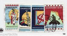 1996 Denmark - Sc# 1043-044 Θ used København culture & arts postage stamp set.