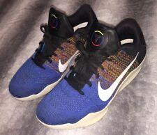Men's Nike Kobe 11 Elite BHM Shoes Black Flyknit Multicolor QS Size 9.5