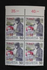 Sello SUIZA / Suiza Stamp - Yvert y Tellier nº1287x4 N (Cyn27)