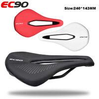 EC90 Bicycle Seat Saddle MTB Road Bike Saddles Racing Saddle Steel Bow Leather