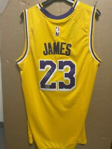 Signed LeBron James autographed Los Angeles Lakers Jersey #23