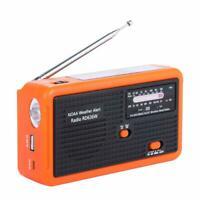 Emergency Radio LED Flashlight Solar, Hand Crank Powered, Portable FM/AM NOAA