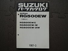 JDM SUZUKI RG500EW C/W/2W HM31A Original Genuine Parts List Catalog RG 500