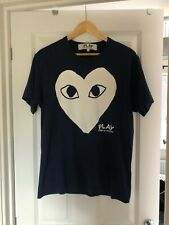 Comme Des Garcons Play T-shirt In Blue, Large